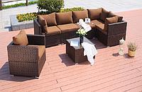Комплект мебели угловой диван, кресло , квадратный журнальный столик