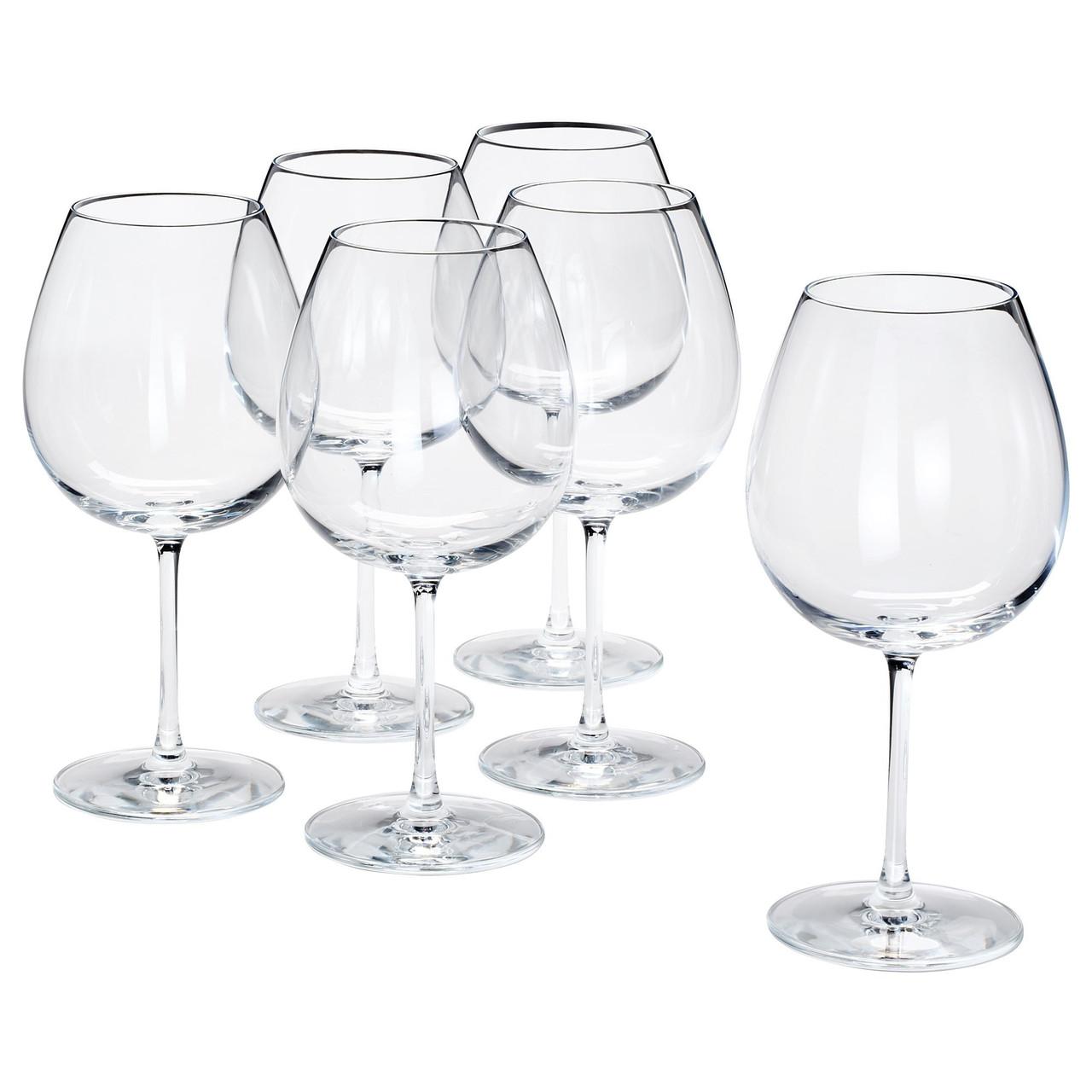Бокал для вина прозрачное стекло. Ikea