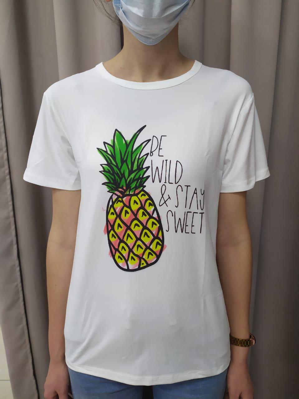 Женская футболка ананас