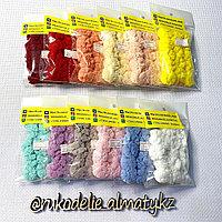Набор помпонов для творчества из сетчатой ткани (2,5 см) «Гвоздики»