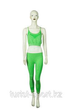Костюм женский для фитнеса зеленый