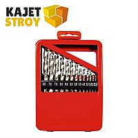 Набор сверл по металлу, 1-10 мм (через 0,5 мм), HSS, 19 шт., метал. коробка цил. хвостовик// Matrix