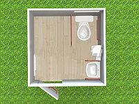 Туалетный модуль автономный для МНГ T-6