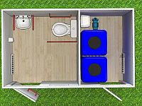 Туалетный модуль автономный для МНГ T-6-АН