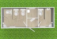 Туалетный модуль с кассой Т-11