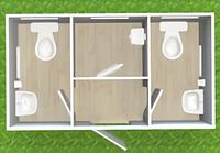 Туалетный модуль с кассой Т-12