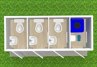 Модульный туалет автономный Т-13-А