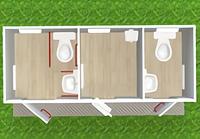 Модульный туалет с кассой Т-14-М3