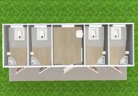 Модульный туалет с кассой Т-14-4