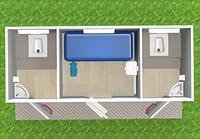 Туалетный модуль с кассой Т-14-А
