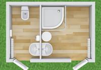 Туалетно-душевой модуль ТД-15
