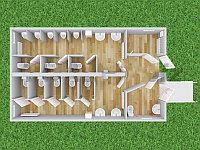 Туалетный комплекс с кассой ТК-851-К