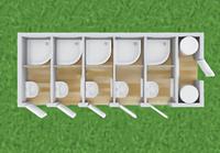Санитарный модуль с раковинами С-2