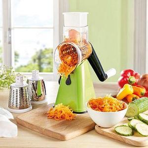 Овощерезка-мультислайсер OBO King ручная терка для овощей и фруктов + 3 ножа-барабана