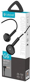 Наушники проводные с микрофоном Celebrat G6 Black