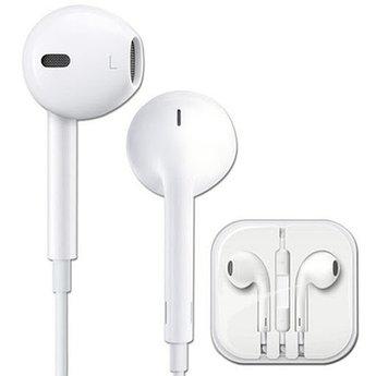 Наушники проводные с микрофоном IPhone с яблоком белые Качество AA