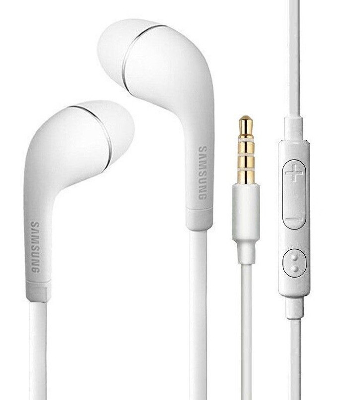 Наушники проводные с микрофоном SAMSUNG YR White затычки (без упаковки)