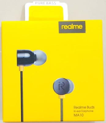 Наушники проводные с микрофоном Realme RMA 101 Buds Black