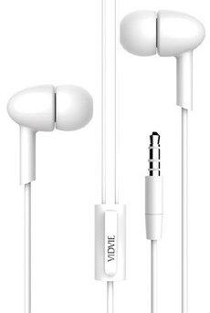 Наушники проводные с микрофоном Vidvie HS615 White