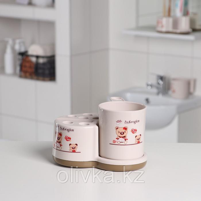 Набор для ванной «Практик», 16×12×9 см, цвет МИКС