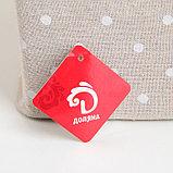 Корзина универсальная плетёная с крышкой Доляна «Грей квадро», 42,5×32×50 см, цвет бежевый, фото 5