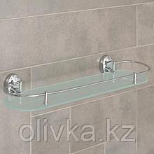 Полка одинарная, с ограничителем Аccoona A11010-1, 52×12 см, стекло