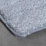 Набор для уборки: ведро с отсеком для полоскания и отжима 8 л, швабра плоская, запасная насадка из микрофибры, фото 5