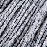 Насадка для швабры верёвочная, х/б, 200 гр, цвет МИКС, фото 3