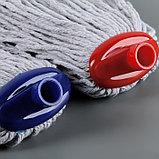 Насадка для швабры верёвочная, х/б, 200 гр, цвет МИКС, фото 4