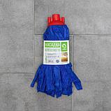 Насадка для швабры ленточная Доляна, микрофибра 200 гр, цвет МИКС, фото 4