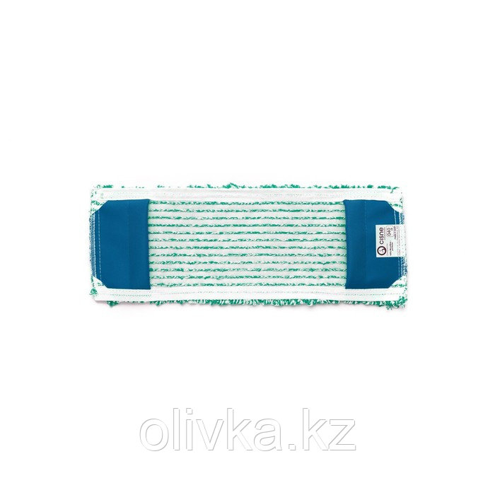 Насадка для швабры SWAN, плоская микрофибра, цвет зелёный/белый, 40 см