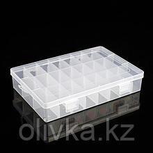 Бокс для хранения, 24 отделения, 19,5×13,5×2 см, цвет МИКС