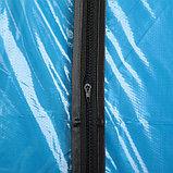 Чехол для одежды Доляна, 60×102 см, PE, цвет синий прозрачный, фото 2