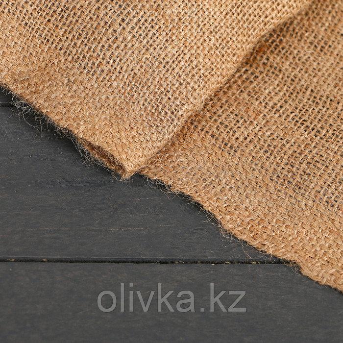 Джут натуральный, 1,1 × 5 м, плотность 260 г/м², плетение 46/40