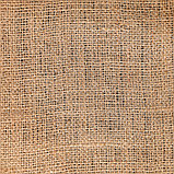 Джут натуральный, 1,1 × 5 м, плотность 260 г/м², плетение 46/40, фото 2