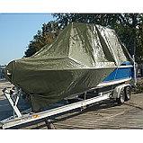Тент защитный, 8 × 8 м, плотность 120 г/м², зелёный/серебристый, фото 4