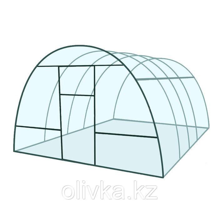 Каркас теплицы «Базовая» , 6 × 3 × 2,1 м, металл, профиль 20 × 20 мм, шаг 1 м, 0,8 мм, без поликарбоната