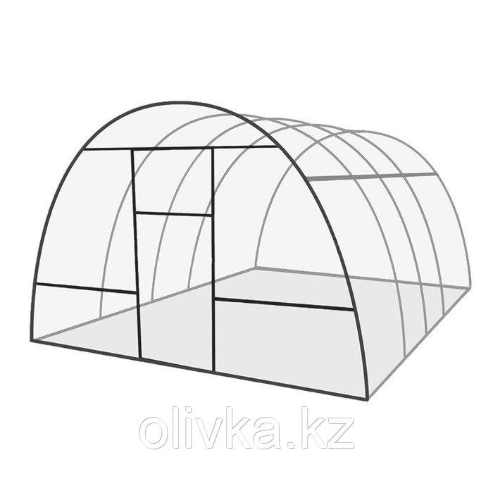 Каркас теплицы «Базовая» , 6 × 3 × 2,1 м, оцинкованная сталь, профиль 20 × 20 мм, шаг 1 м, 0,8 мм, без поликарбоната