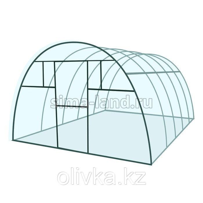 Каркас теплицы «Комфорт», 8 × 3 × 2,1 м, металл, профиль 20 × 20 мм, шаг 1 м, 1 мм, без поликарбоната