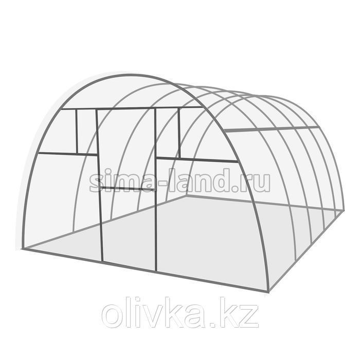 Каркас теплицы «Комфорт», 4 × 3 × 2,1 м, оцинкованная сталь, профиль 20 × 20 мм, шаг дуг 65 см, 1 мм, без поликарбоната