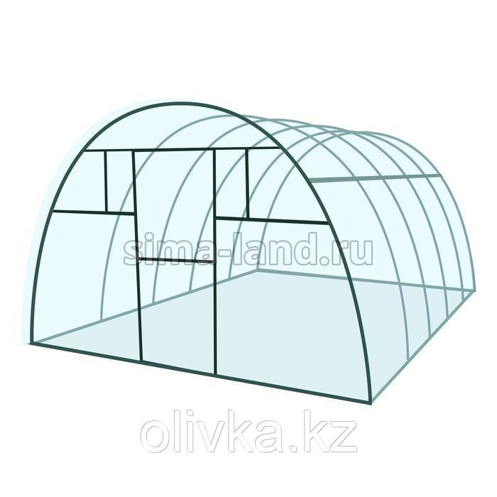 Каркас теплицы «Комфорт», 6 × 3 × 2,1 м, металл, профиль 20 × 20 мм, шаг дуг 65 см, 1 мм, без поликарбоната