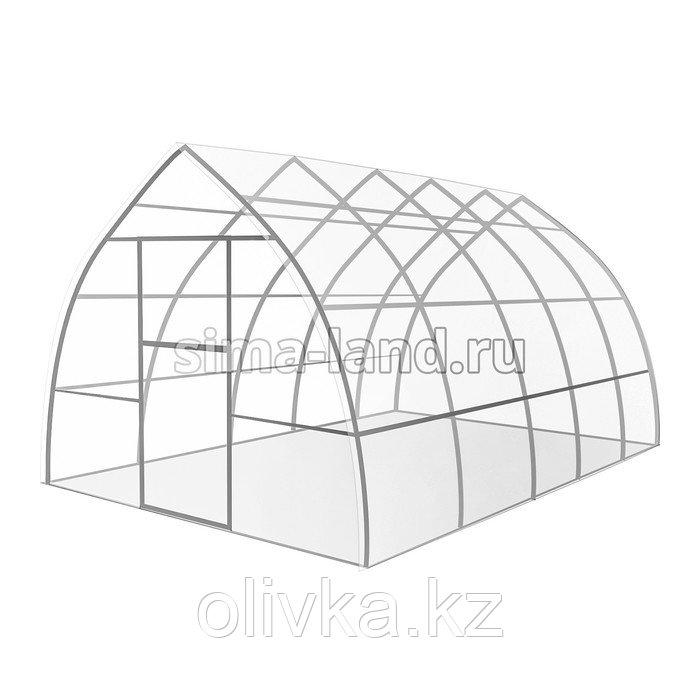 Каркас теплицы «Капелька», 6 × 3 × 2,19 м, оцинкованная сталь, профиль 20 × 20 мм, шаг 1 м, 1 мм, без поликарбоната