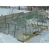 Каркас теплицы «Комфорт», 6 × 3 × 2,1 м, оцинкованная сталь, профиль 20 × 20 мм, шаг дуг 65 см, 1 мм, без поликарбоната, фото 2