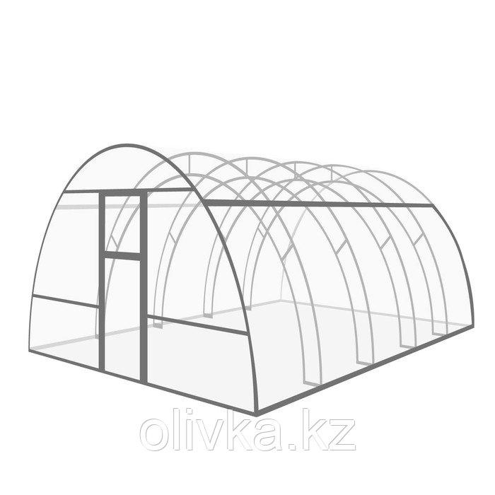 Каркас теплицы «Фермерская», 4 × 3 × 2 м, оцинкованный металл, профиль 20 × 20 мм, шаг 1 м, 1 мм, без поликарбоната