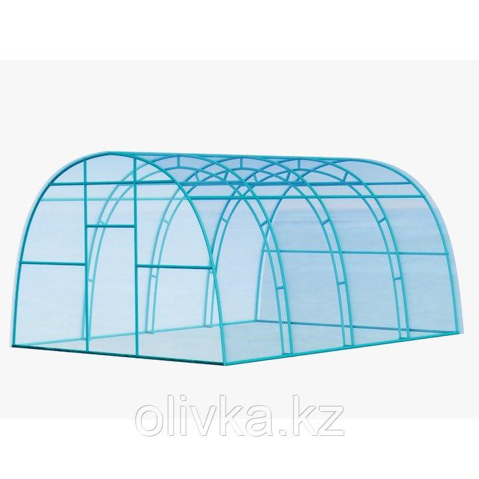 Каркас теплицы «Фермерская», 8 × 3 × 2 м, металл, профиль 20 × 20 мм, шаг 1 м, 1 мм, без поликарбоната