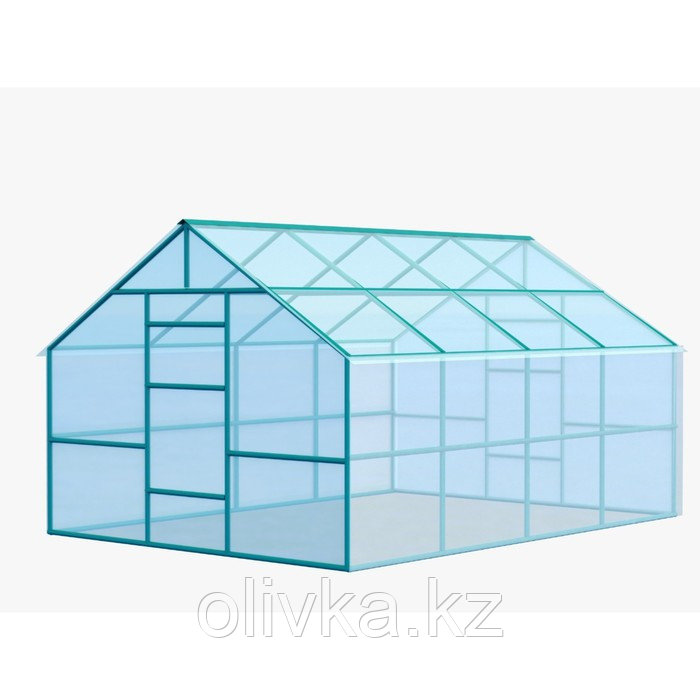 Каркас теплицы «Домик», 6 × 3 × 2,3 м, металл, профиль 40 × 20 мм, шаг 1 м, 1 мм, без поликарбоната