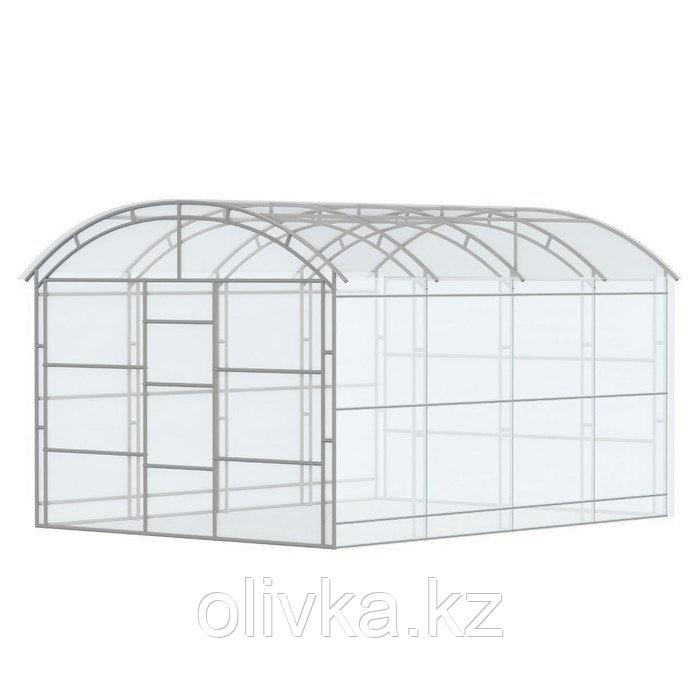 Каркас теплицы «Павильонная», 4 × 3 × 2,4 м, оцинкованная сталь, профиль 20 × 20 мм, шаг 1 м, 1 мм, без
