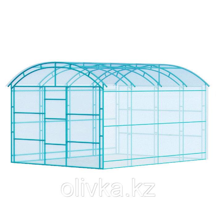 Каркас теплицы «Павильонная», 6 × 3 × 2,4 м, металл, профиль 20 × 20 мм, шаг 1 м, 1 мм, без поликарбоната