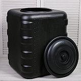Бак для душа, 150 л, с крышкой, с резьбой под кран, чёрный, фото 2