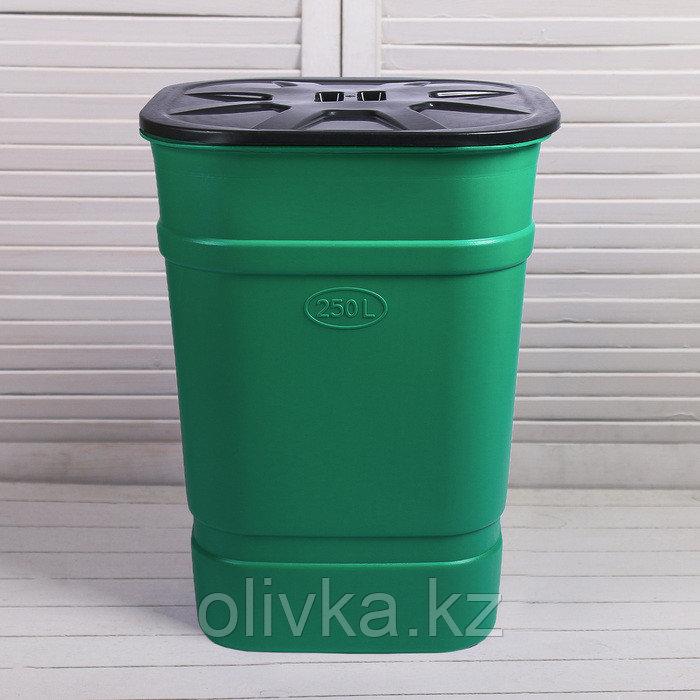 Бочка-бак пищевая «Помощник», 250 л, горловина 61 см, с крышкой, МИКС